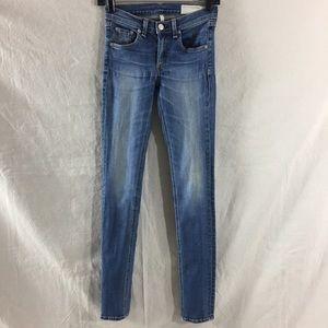 Rag & Bone Surf Wash Skinny Jeans Size 24